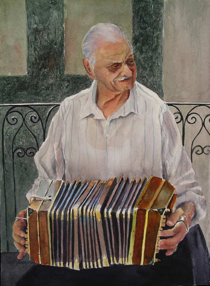 Bandoneon Player   SOLD