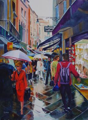 The Umbrella Seller   SOLD