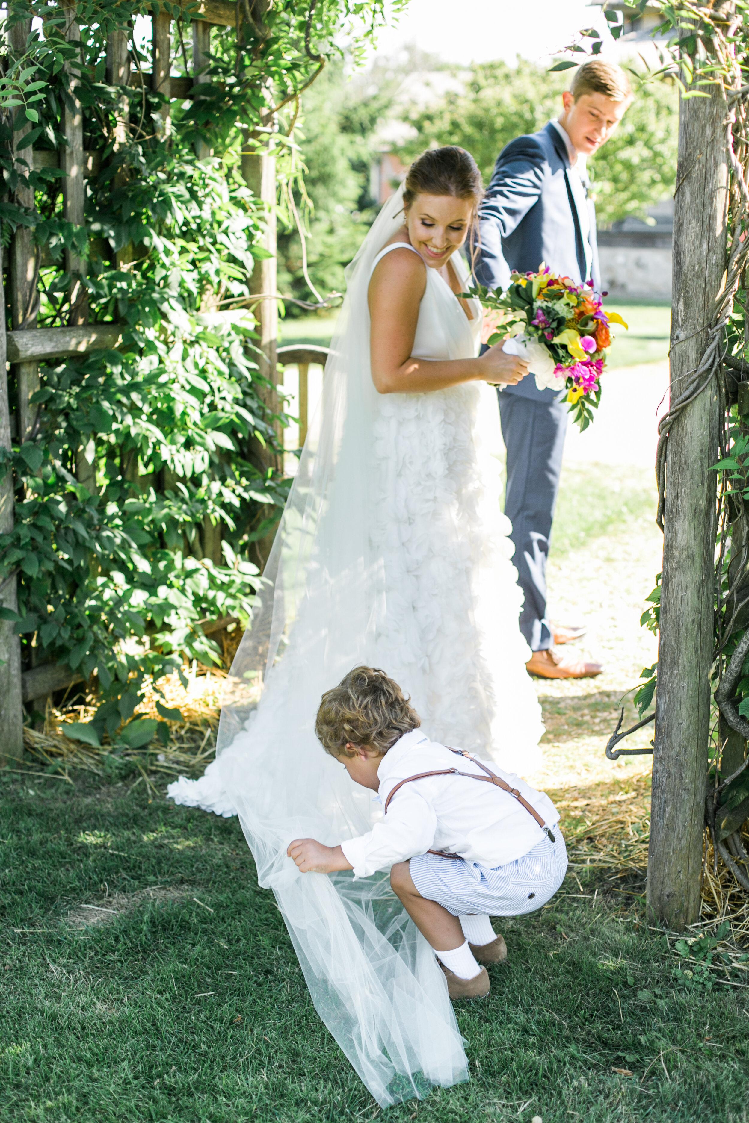 The cute ringbearer didn't hurt the photos. :)