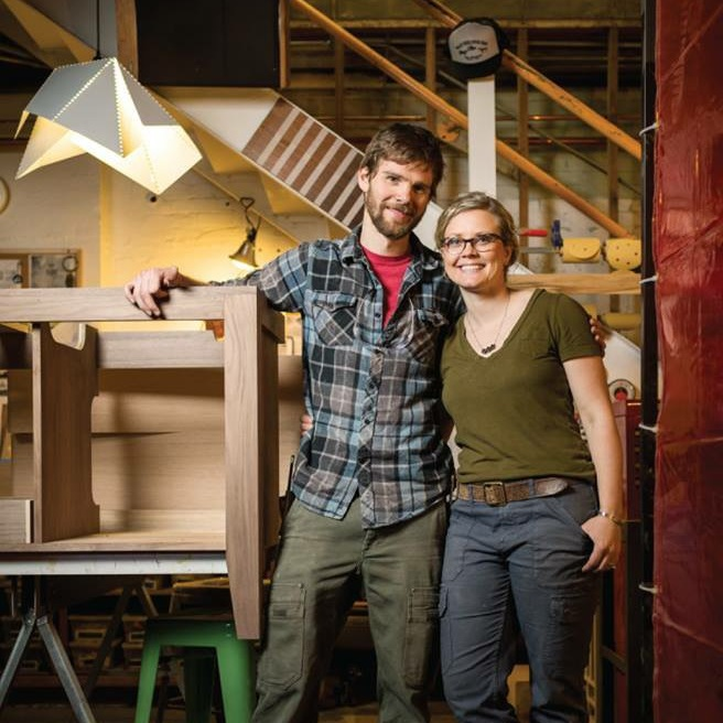 Working in Tandem - Hi, we're Nate and Erin, the husband/ wife duo behind Tandem Made. We met in the wood shop in college and have been inseparable in design and life ever since.Tandem Made is a design/ build studio focusing on furniture and home goods. Each piece is handmade in Minneapolis by us. We've combined our skills and interests to make work that is thoughtful, innovative and truly Tandem Made.Connect with us via email, we look forward to hearing from you!info@tandemmade.com