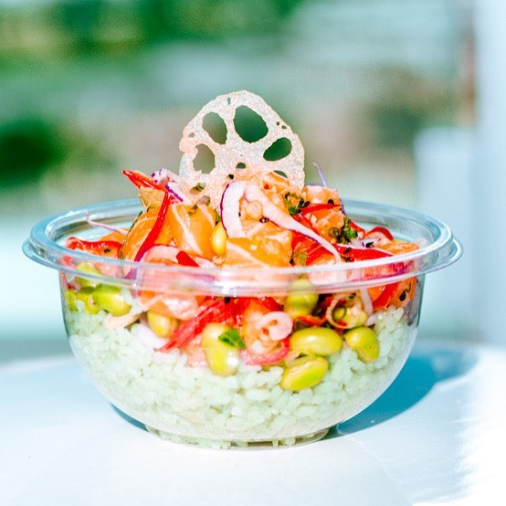 Maggie: Pōk the Raw Bar - Go-to order: build your own bowl with tuna, spicy ponzu, bamboo rice, avocado, cilantro, and ginger.