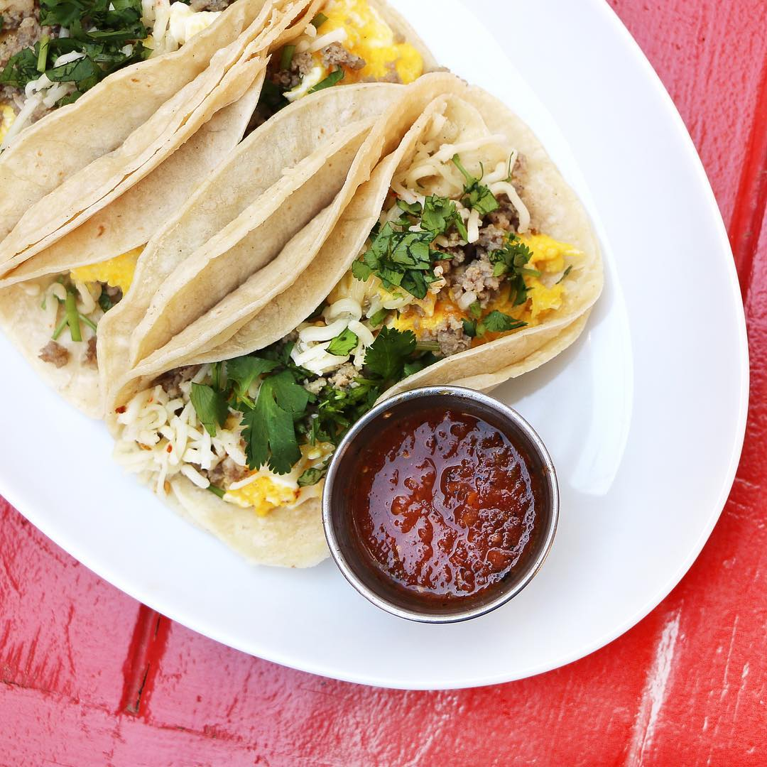 """Avery: HG Supply Co. - Go-to order: """"Fried"""" rice.""""I love HG because the food is fresh and healthy, and the drinks are refreshing. The rooftop is beautiful and fun and gives a great view of downtown."""""""