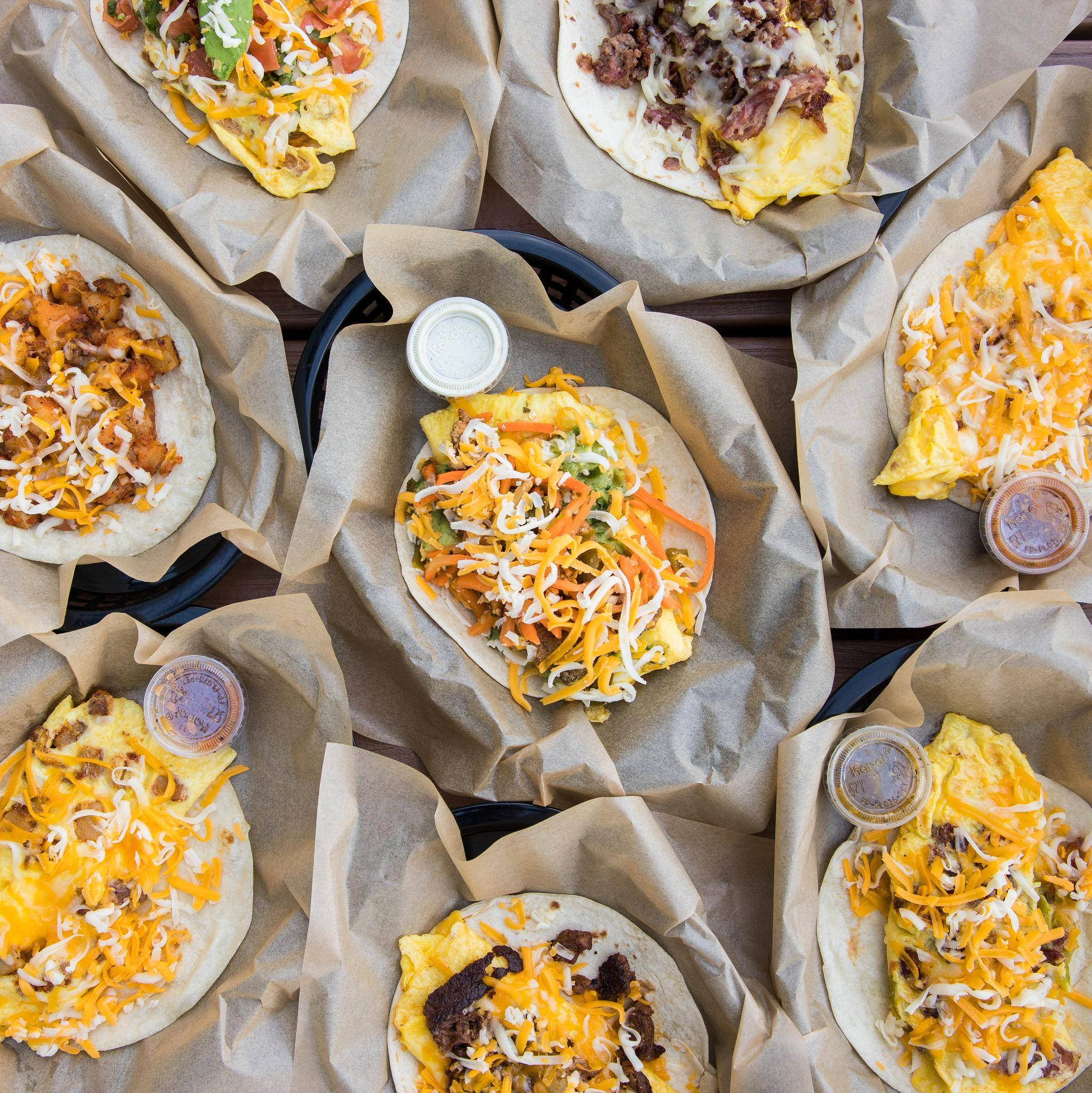 """Zach: Torchy's Tacos - Go-to order: two bacon egg and cheese tacos with green chile queso""""It's so good, and it never disappoints, and the queso is a good mix of spicy and cheesy. Doesn't over power."""""""
