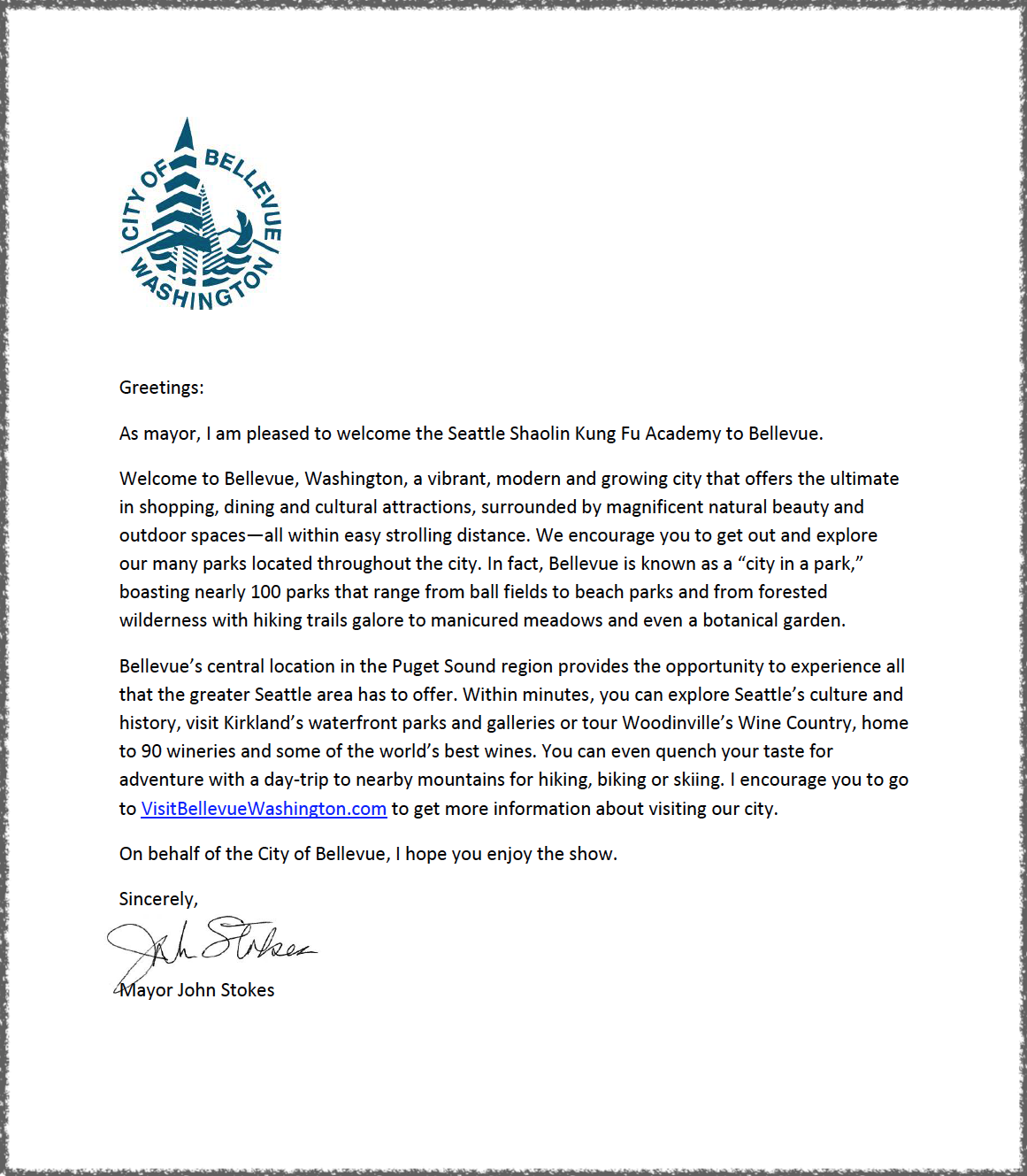 Congrats Letter from City of Bellevue Mayor  John Stokes.png