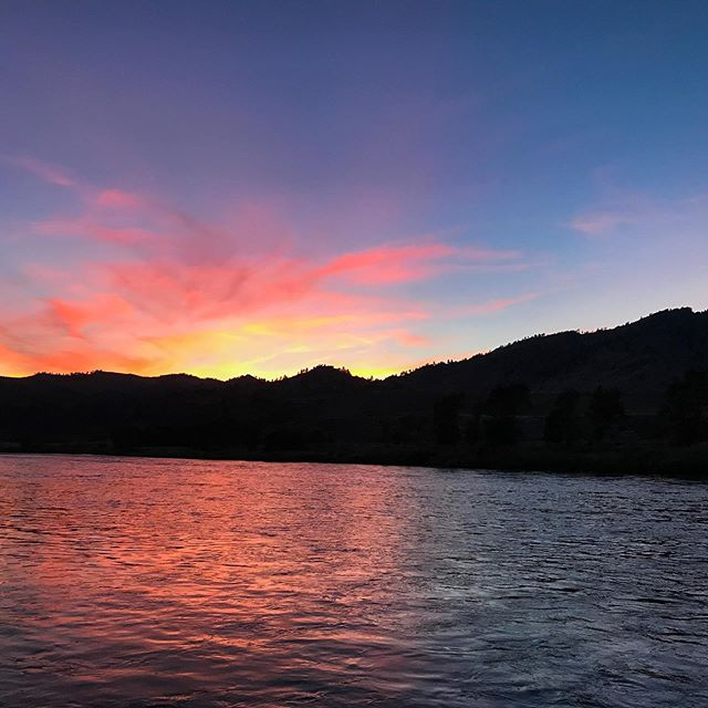 Are your evenings at the office as awesome as this? Who are we kidding? It's like this all of the time! www.blackfeetoutfitters.com #flyfishmontana #flyfish #flyfishmissouririver #troutfishing