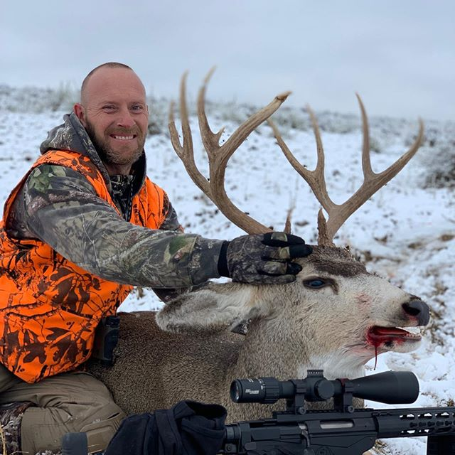 Nice 4x 5 mule deer bagged by our client on opening day!