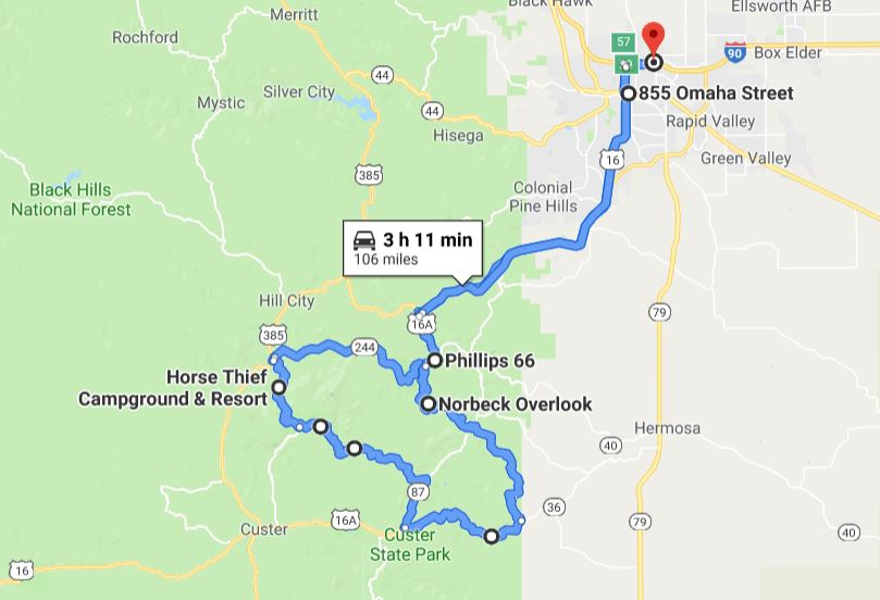 Custer State Park Needles Highway map.JPG