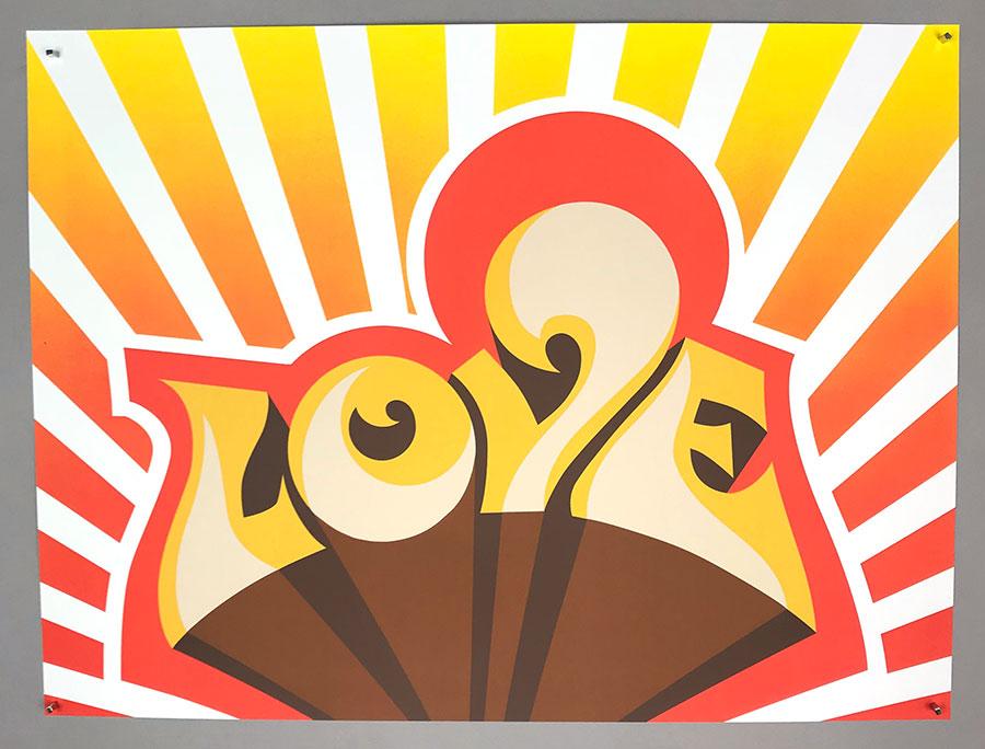 "Cey Adams, ""Love,"" $50."