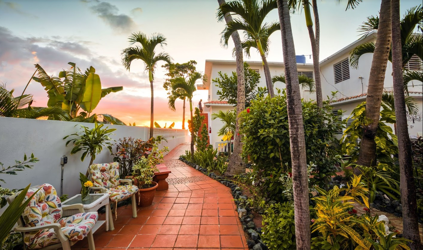 The Private Garden of Coconut Palms Inn offers a relaxing oasis free of life's worries.