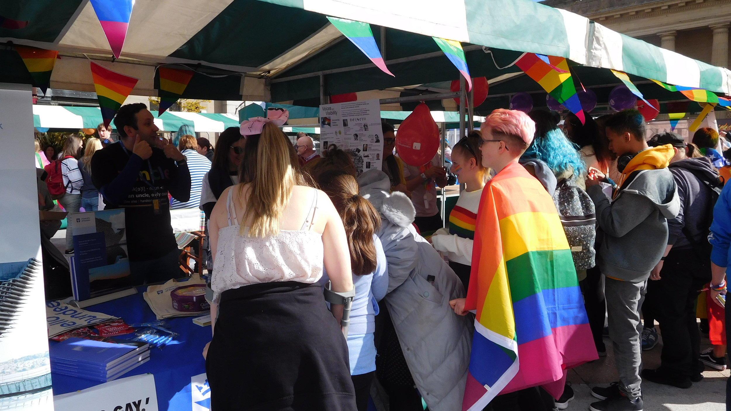 Our sponsors were busy but had fun! - Promote your organisation at Pride.
