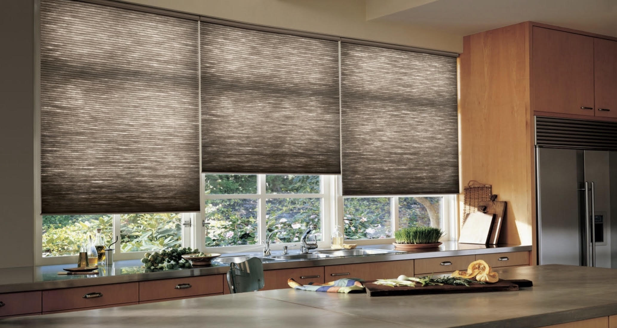 Side By Side Honeycomb Shades