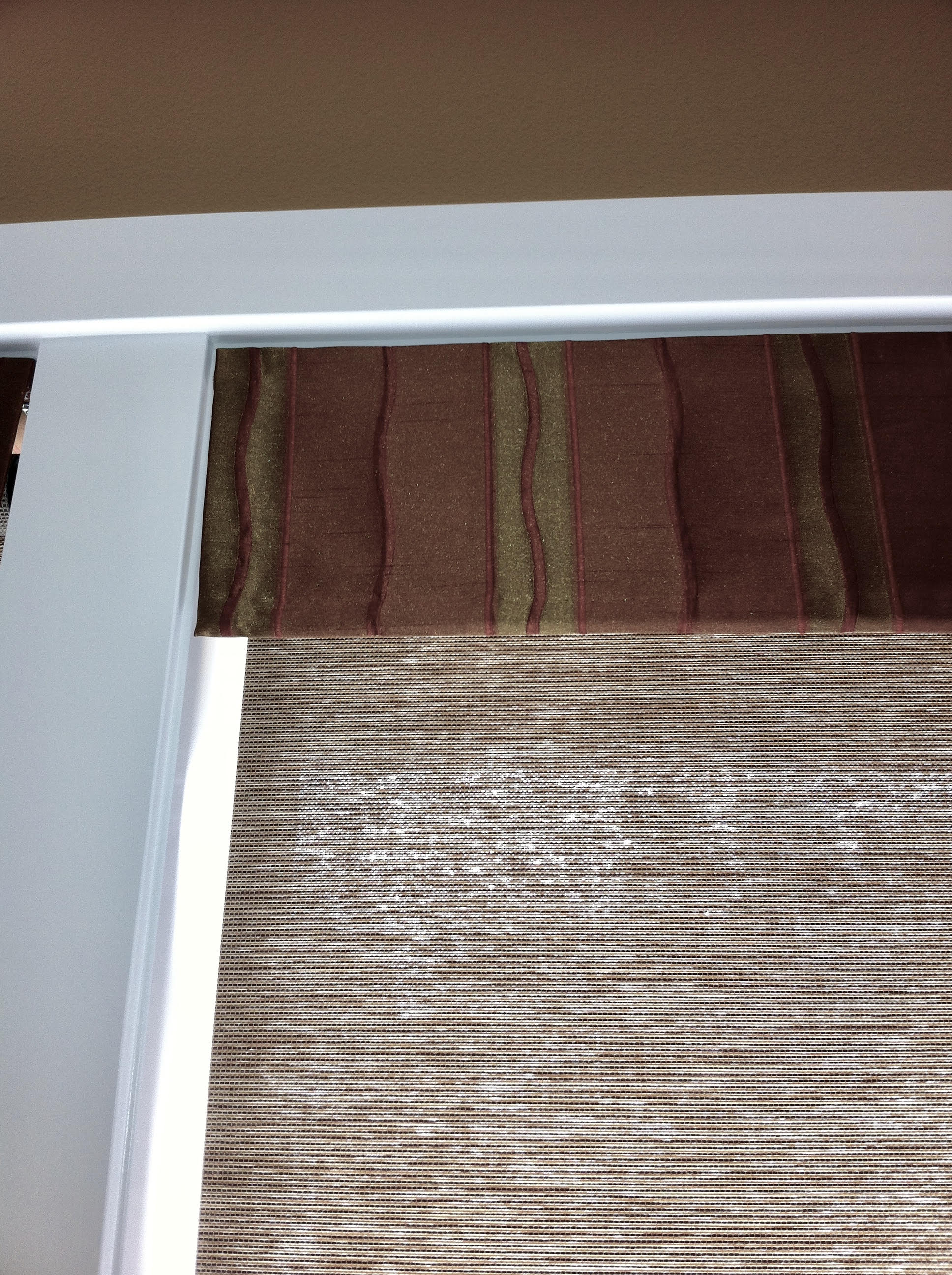 Roller Shade with Contrasting Fabric Valance