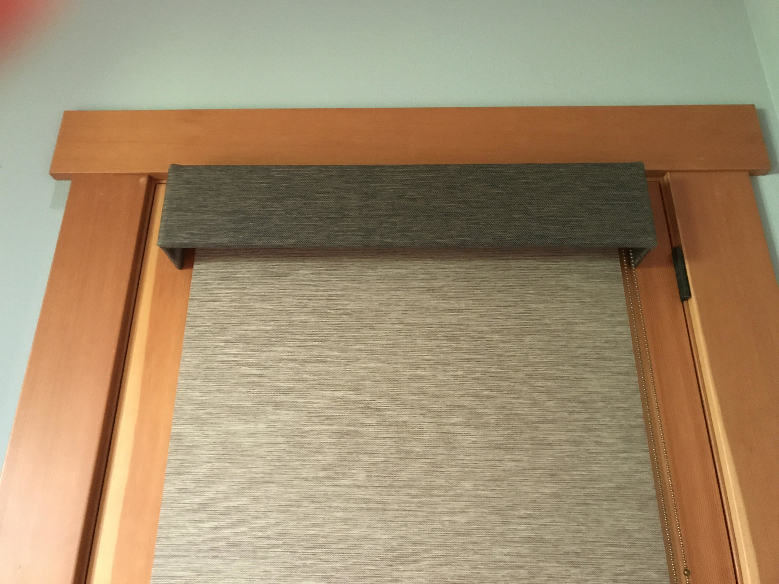 Roller Shade & Valance On French Door