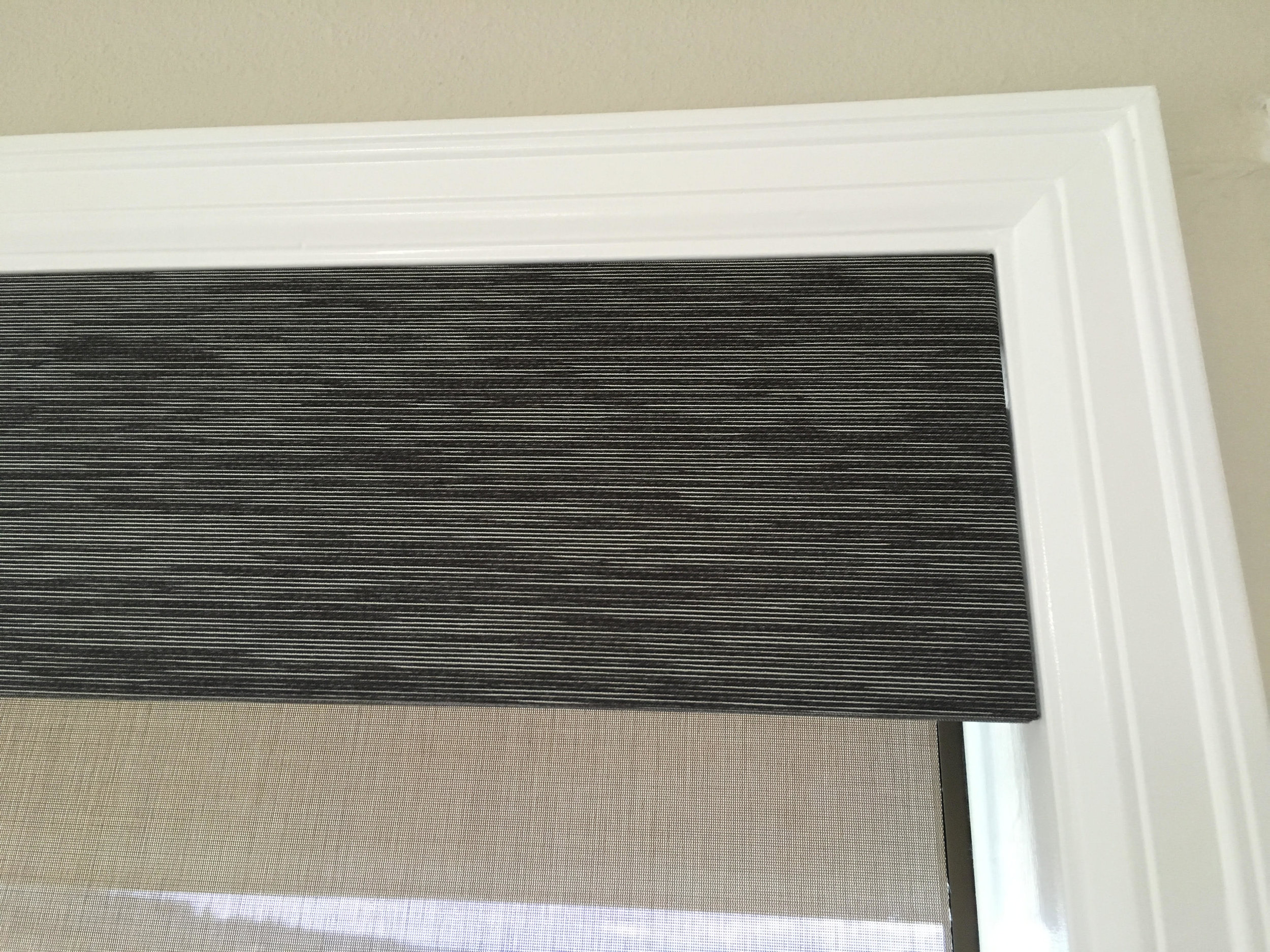 Light Filtering Roller Shade with Contrasting Fabric Valance