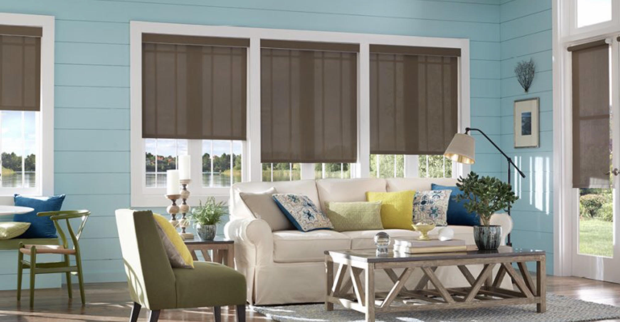 Roller Shades with Cassette Valance