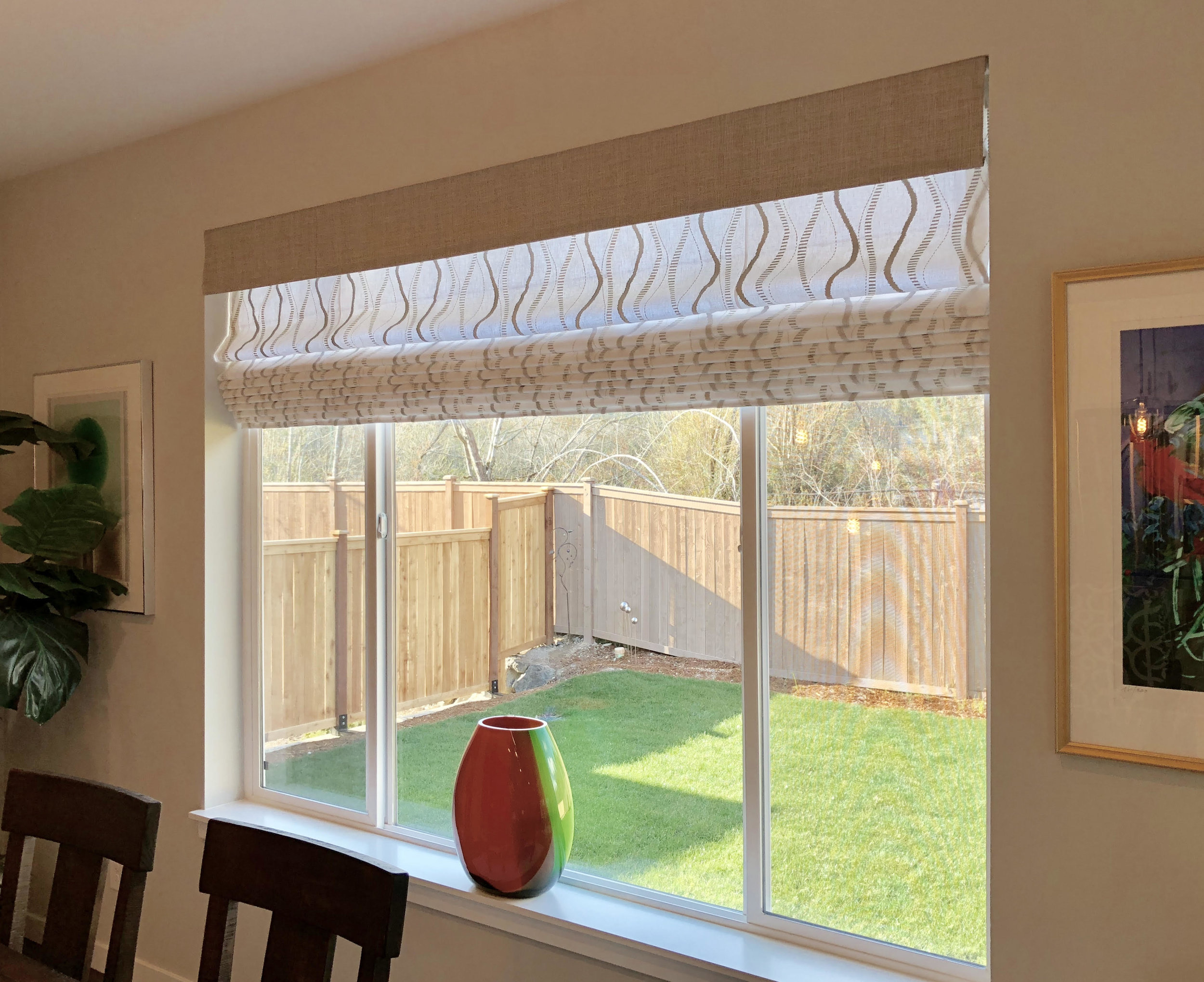 Roman Shade for Large Windows