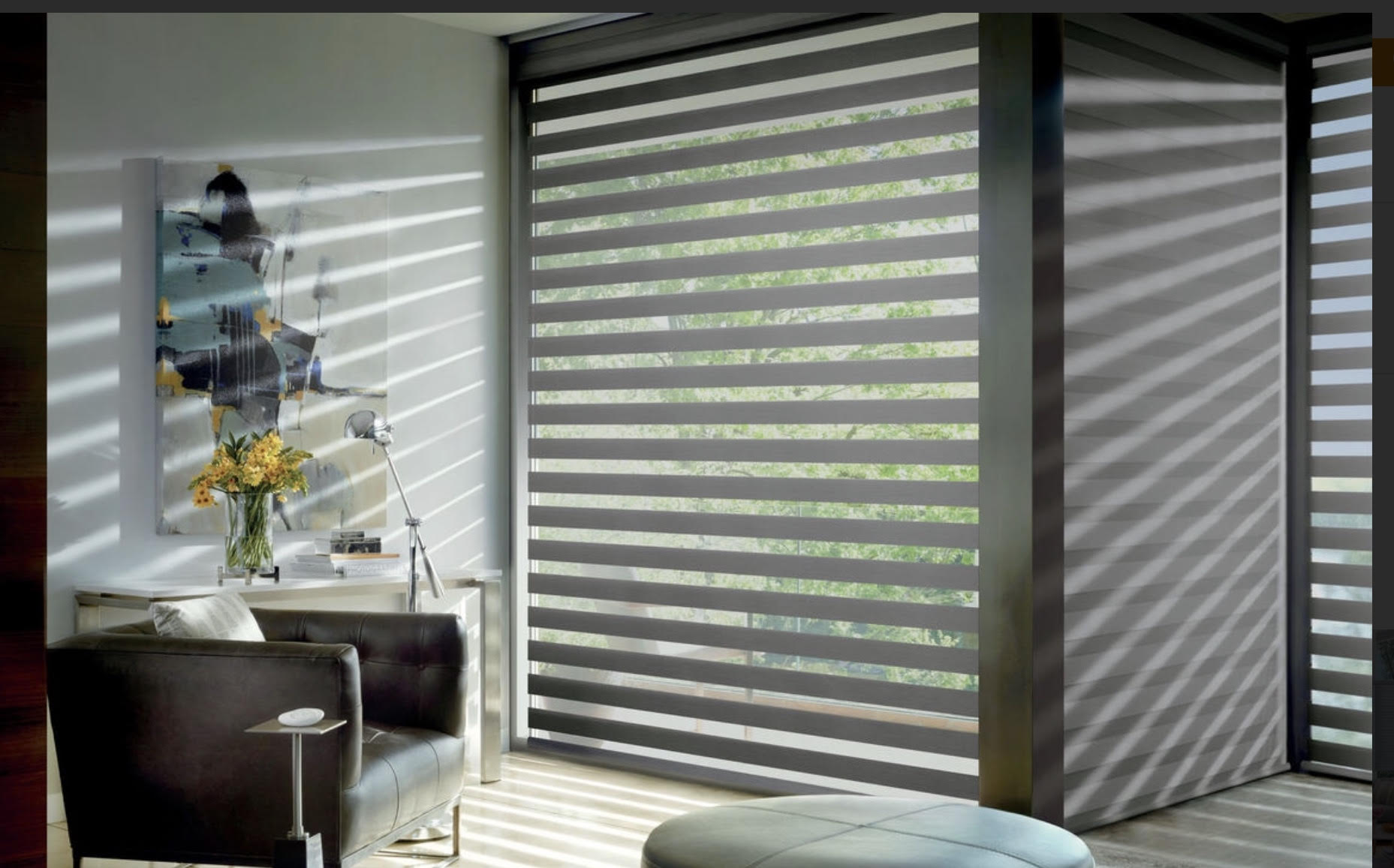 Banded Shades Creating an Architectural Feel