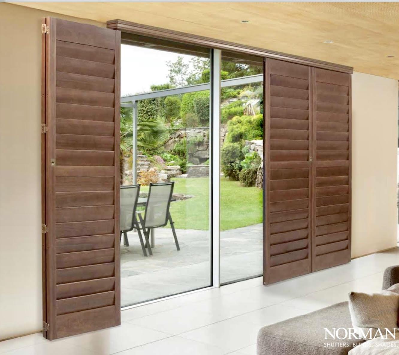 Norman Bi-Fold Shutters Over Sliding Door