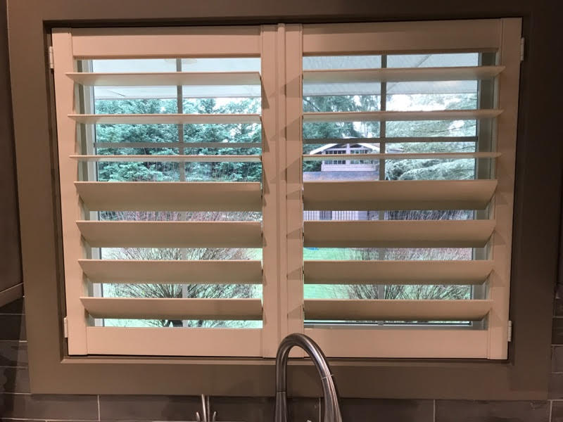 """Norman Composite Shutters with 4 1/2"""" Invisible Tilt and Split Louver Control"""