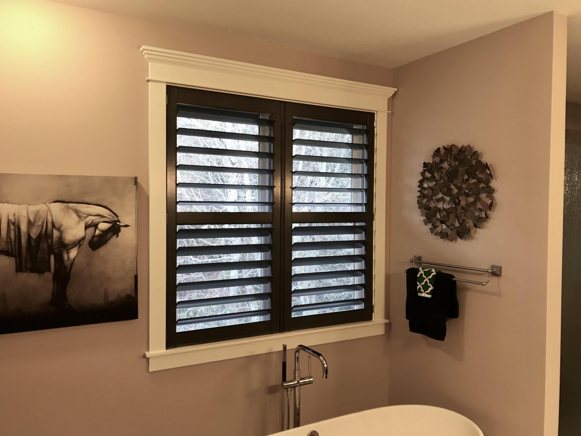 Beautiful Contrasting Black shutters