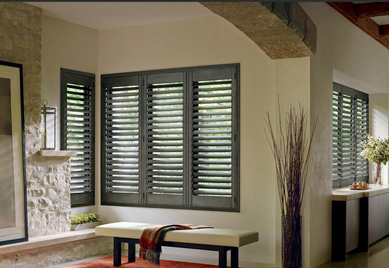 """Invisible Tilt Shutters with 3 1/2"""" Louvers"""