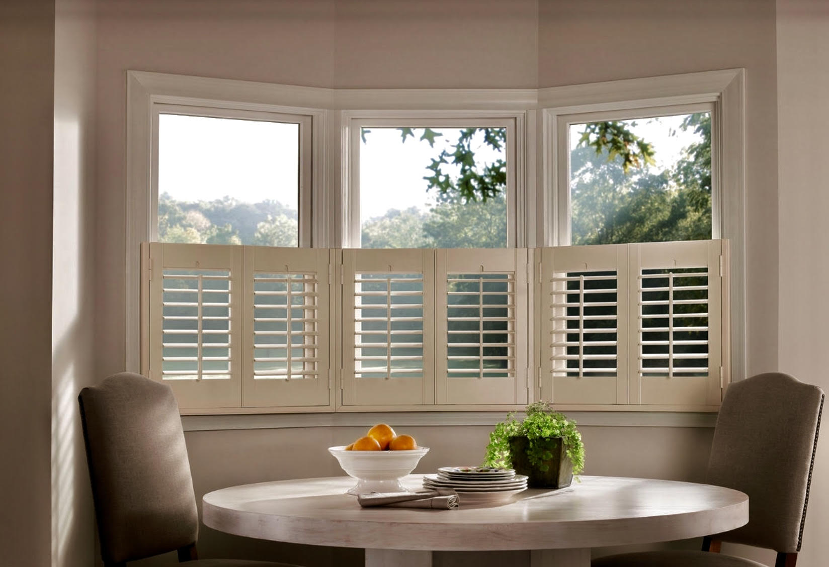 """Cafe Shutters with 2 1/2"""" Louvers"""
