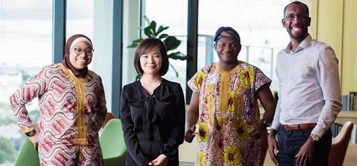 From left: Nibrass Hassan, Xiaoyu Yang, Irimiya Arigu Emmanuel and Ahmed Gamal Elshiekh.