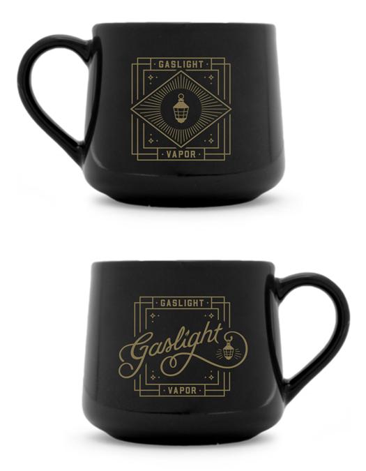 Branded mug uniting the two logos