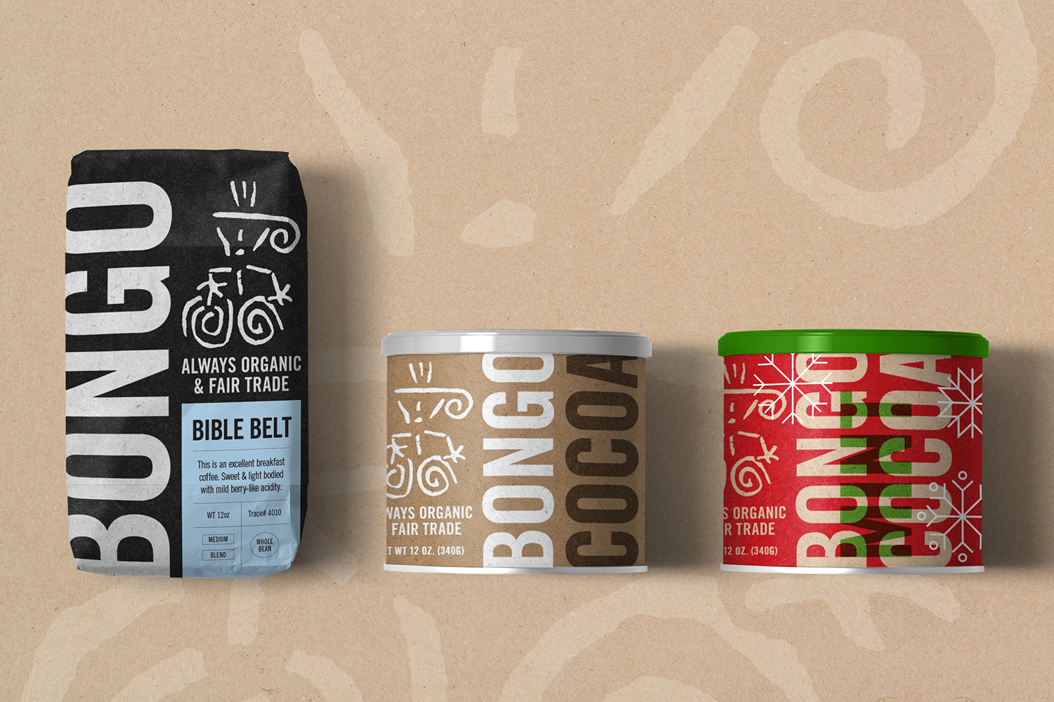I refreshed Bongo's brand identity and redesigned all their packaging to reflect the new identity and positioning.