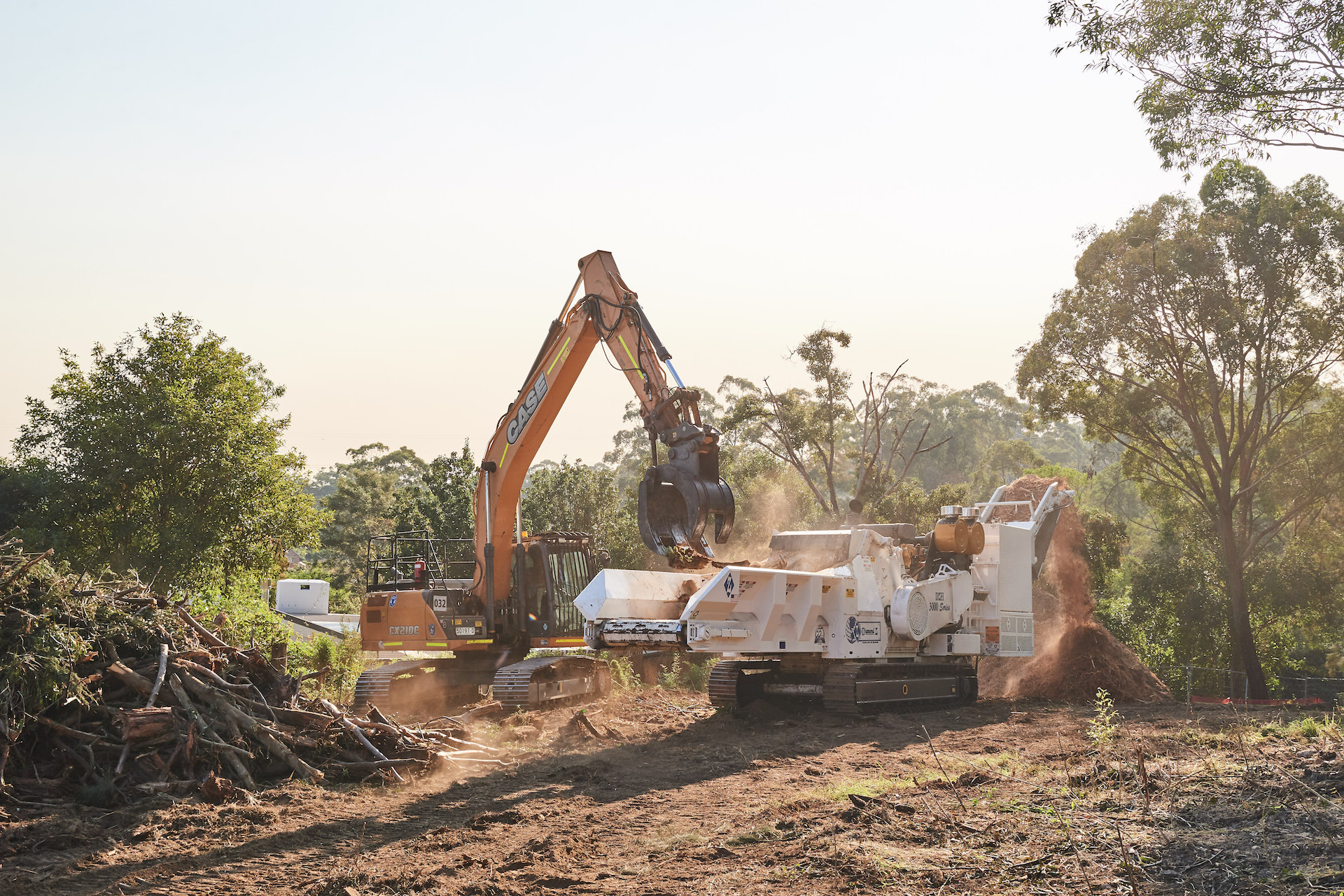 - tree recycling and land clearing