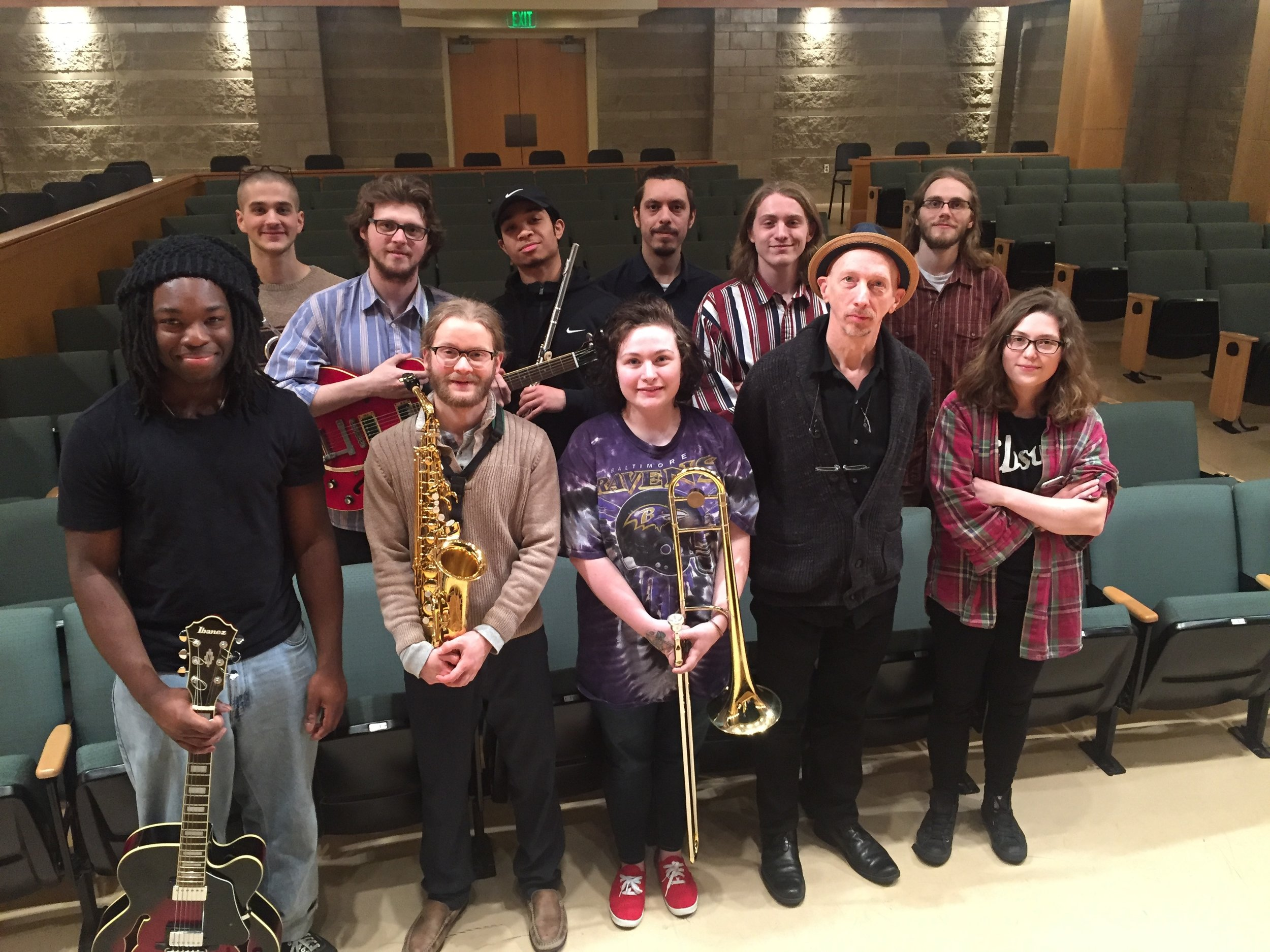 With Towson University's Improvisation Ensemble, April, 2018