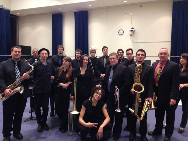 With Towson University's Jazz Orchestra, April, 2014