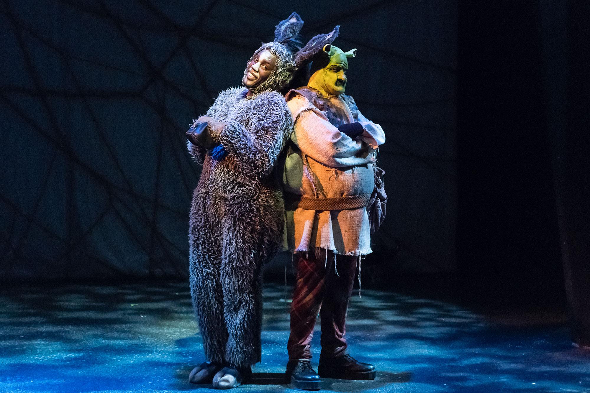 Remell-Bowens-(Donkey)-and-Gilgamesh-Taggett-(Shrek),-Photo-Credit-Andy-Dudik.jpg