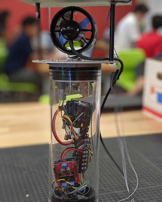 A buoy developed by a group of 'Iolani students as part of their Advanced Innovation and Leadership course during 2018-2019.  Designed to collect water quality data while deployed in the Ala Wai Canal.