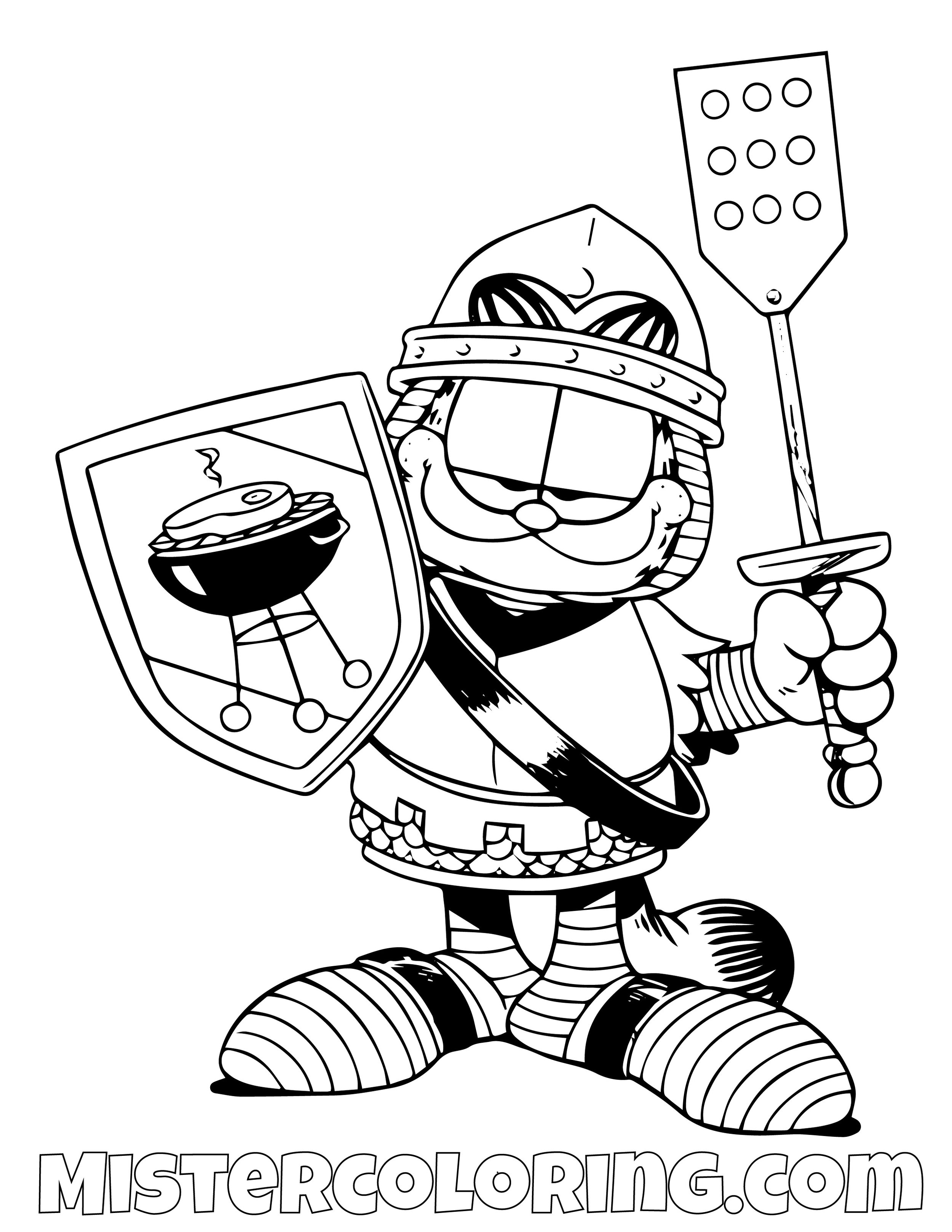 Garfield Coloring Pages For Kids Mister Coloring