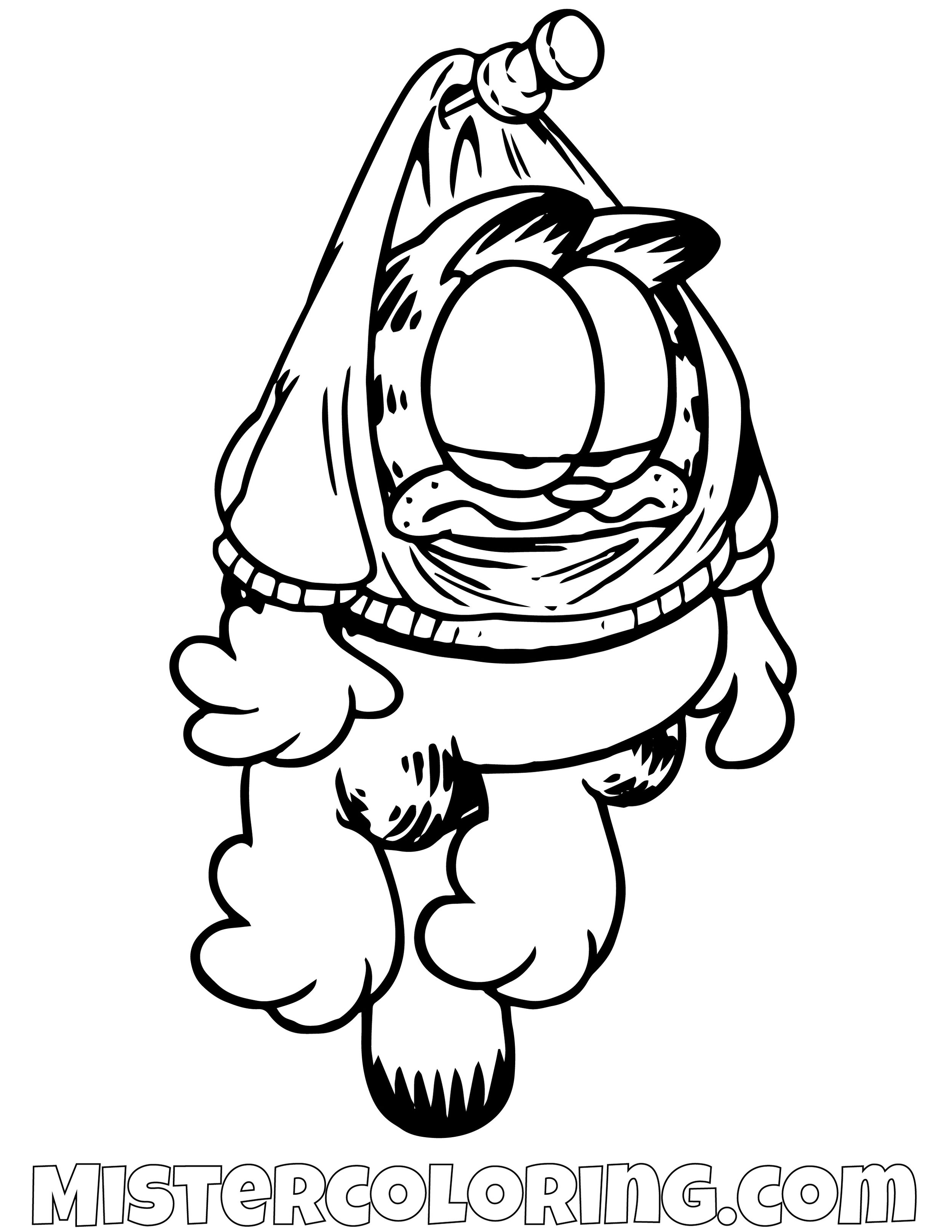 Garfield Hanging Coloring Page