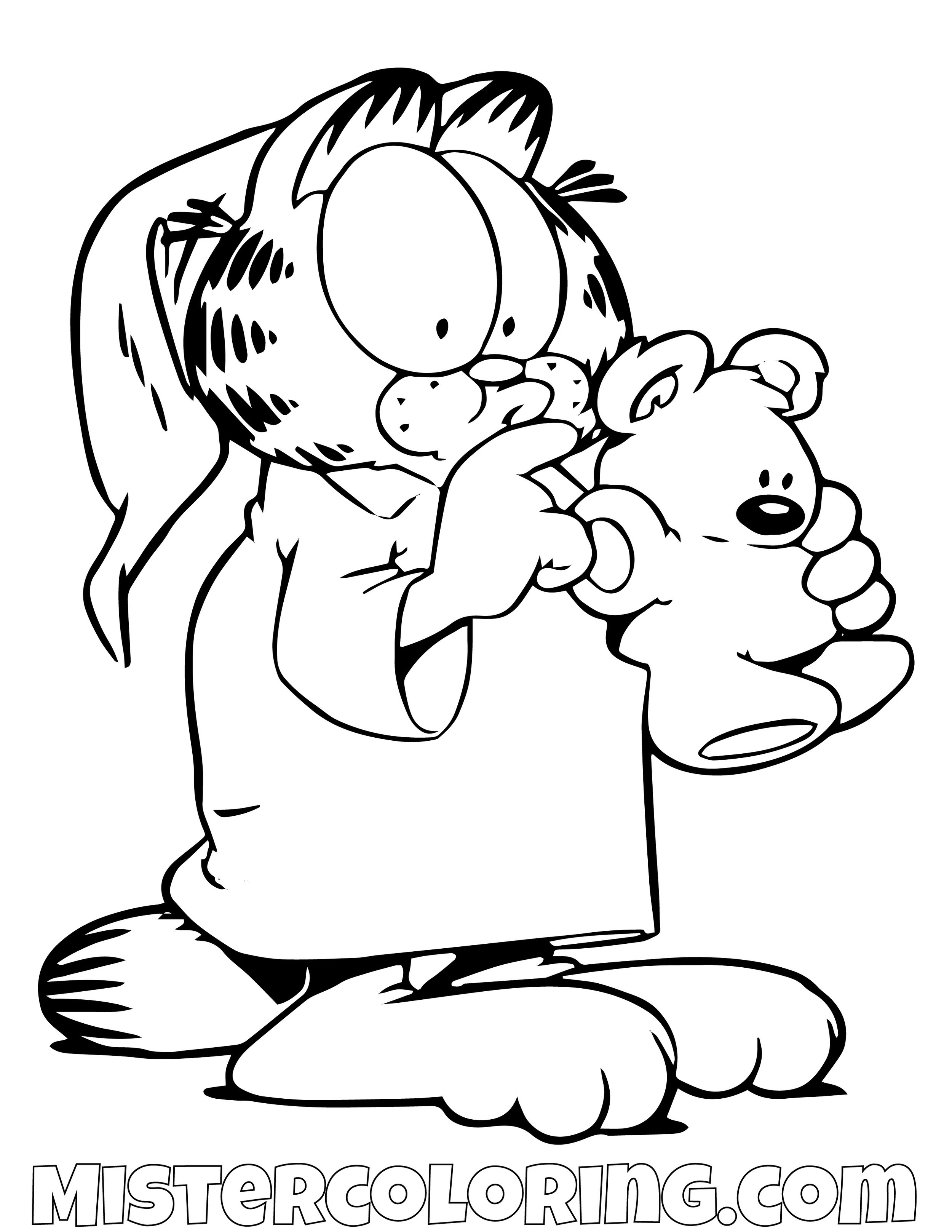 Garfield With Spooky Coloring Page