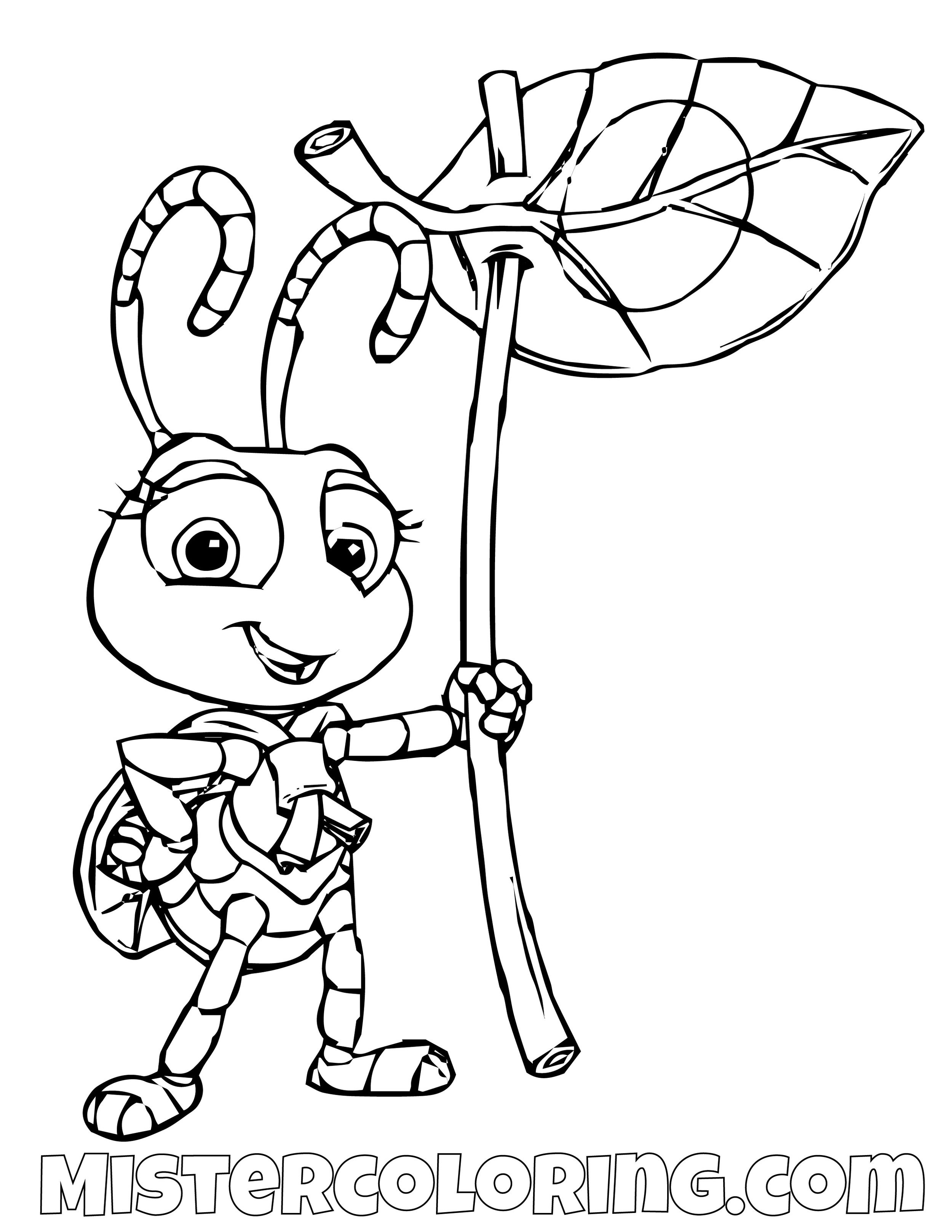 Dot A Bugs Life Coloring Page