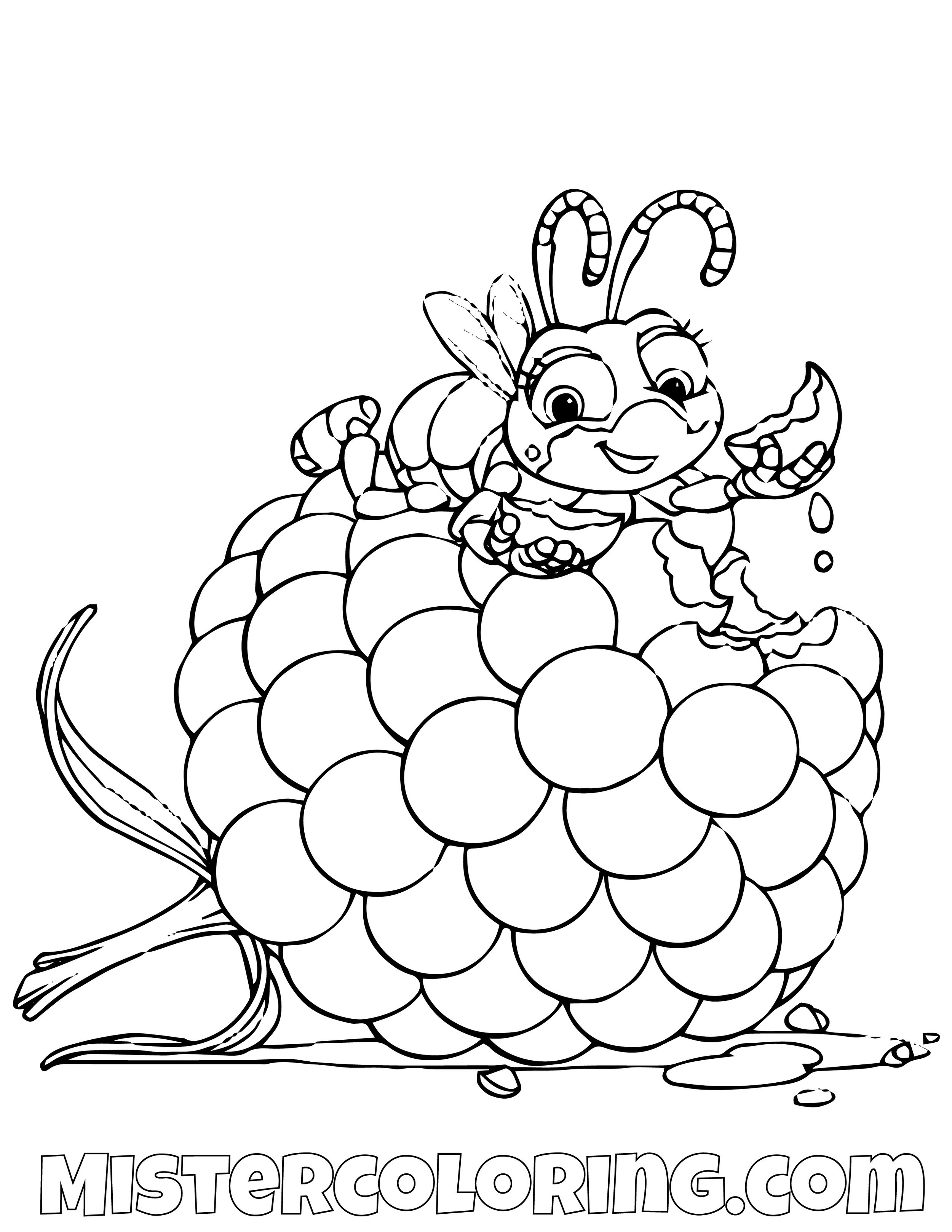 Dot Eating A Grape A Bugs Life Coloring Page