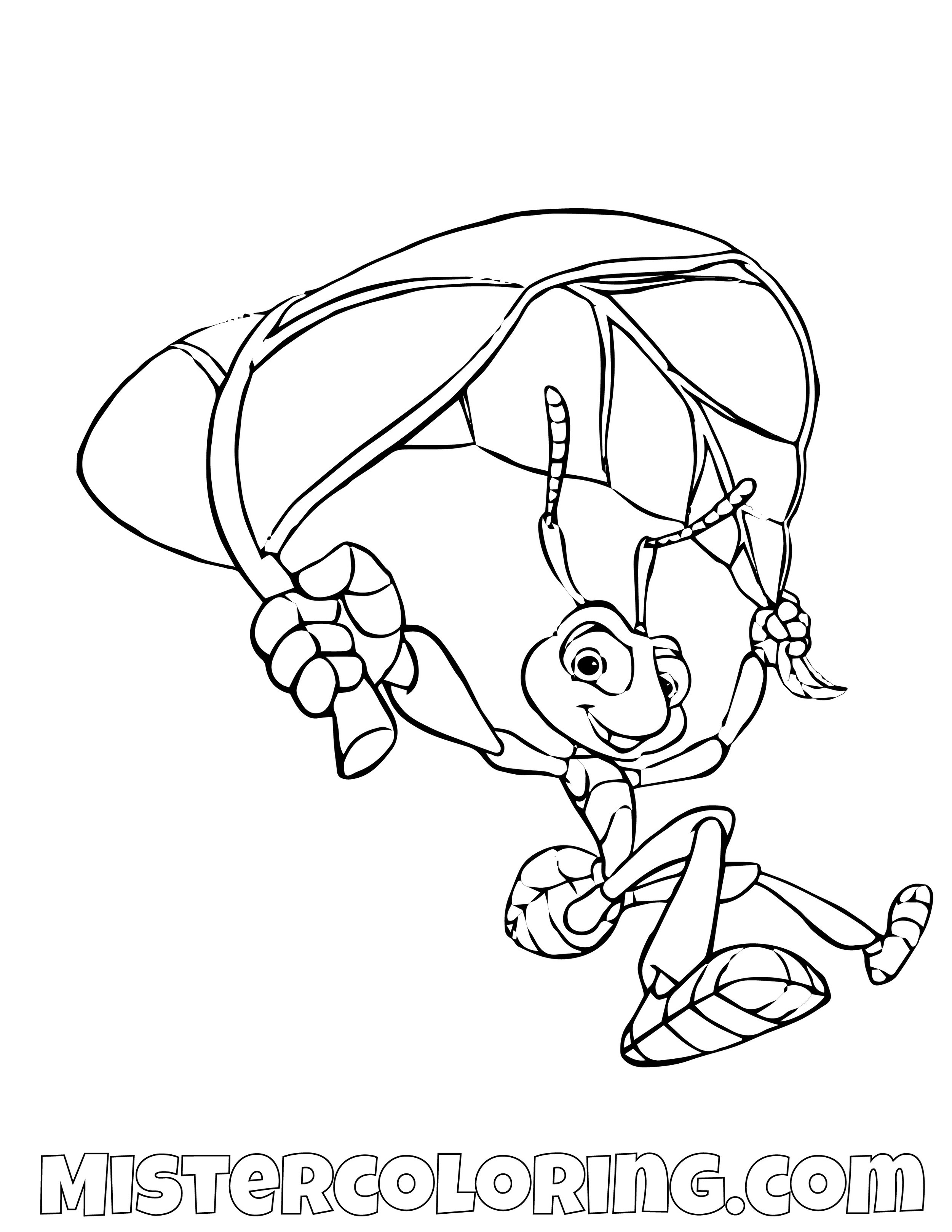 Flick Landing A Bugs Life Coloring Page