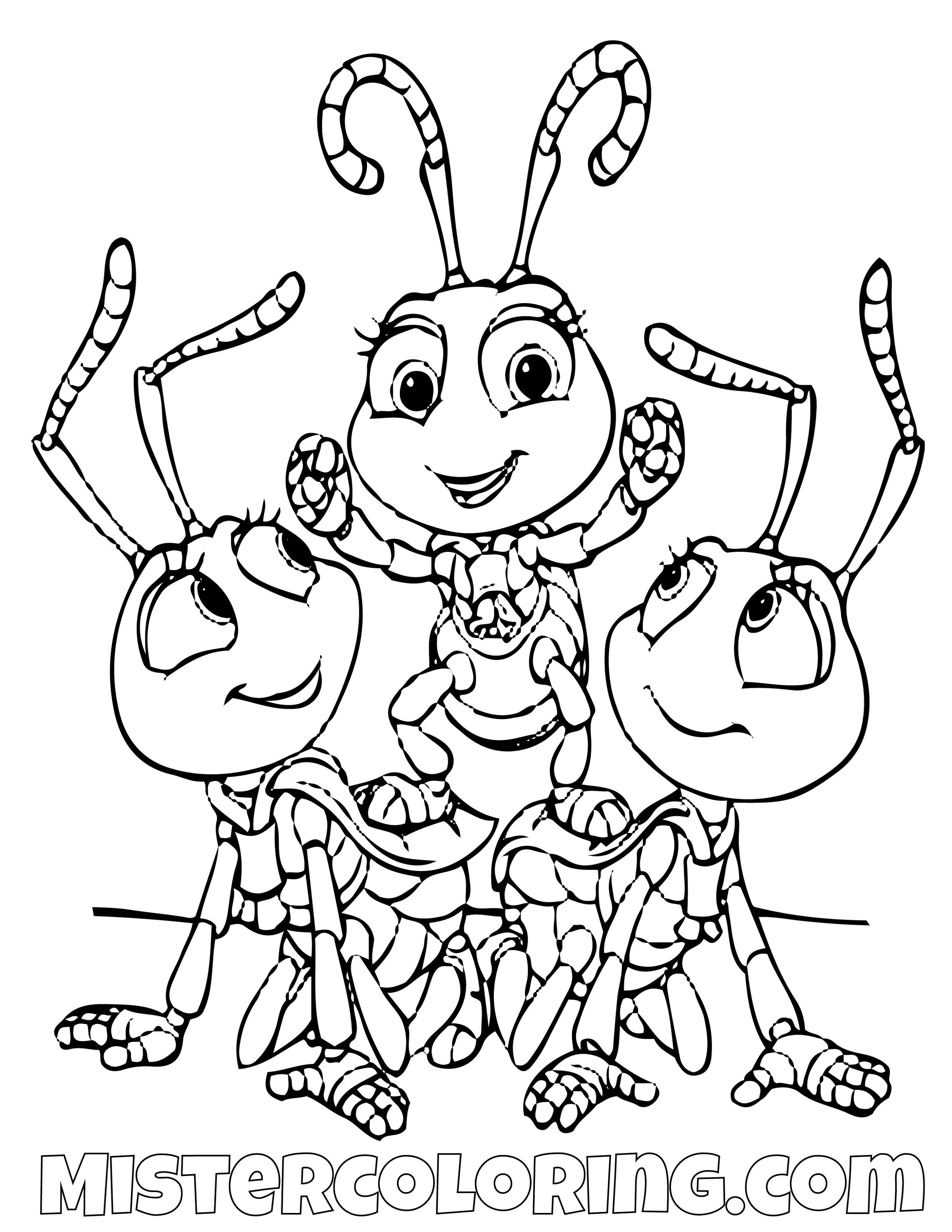 Dot And The Blueberries Posing Coloring Page