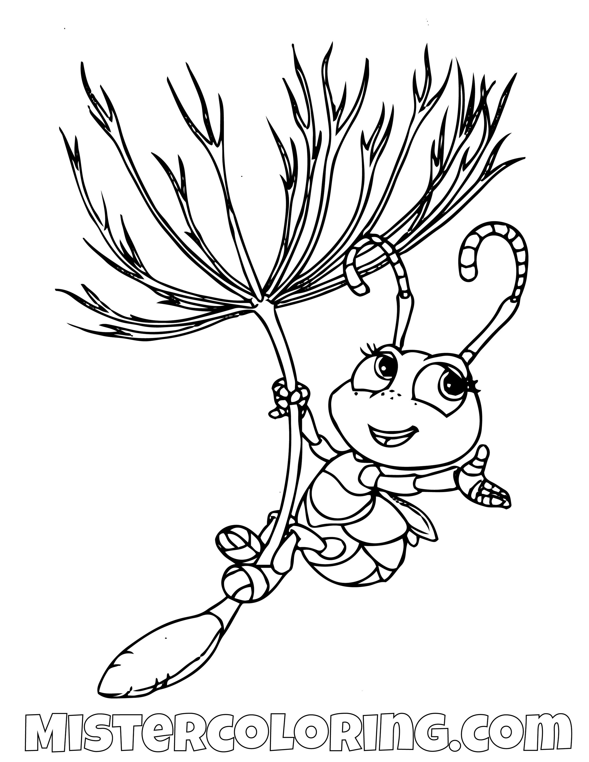 Dot Flying A Bugs Life Coloring Page