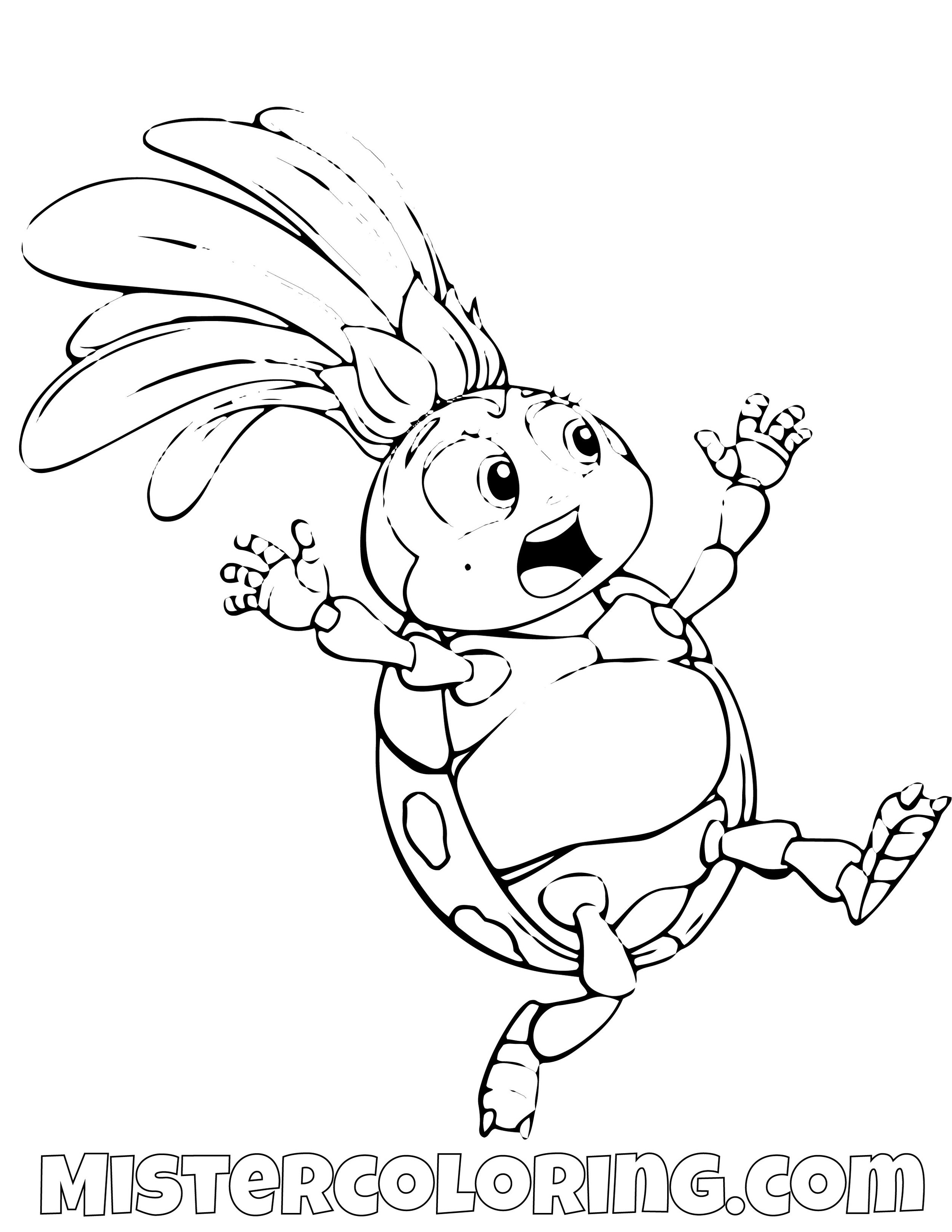 Francis Running A Bugs Life Coloring Page