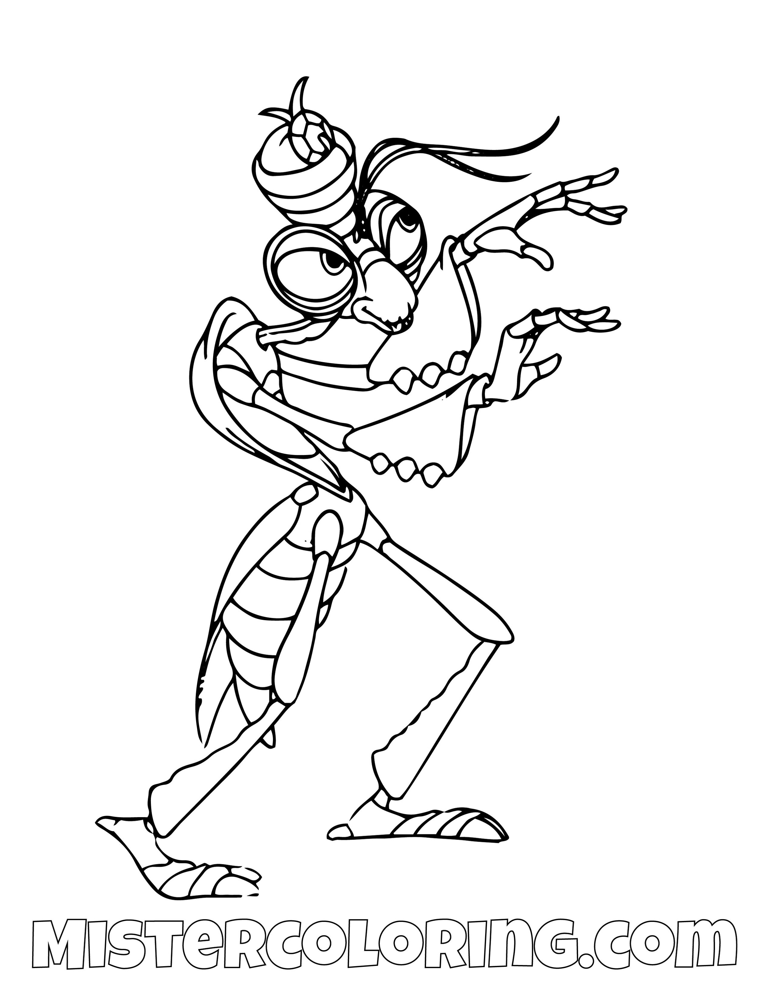 Manny A Bugs Life Coloring Page