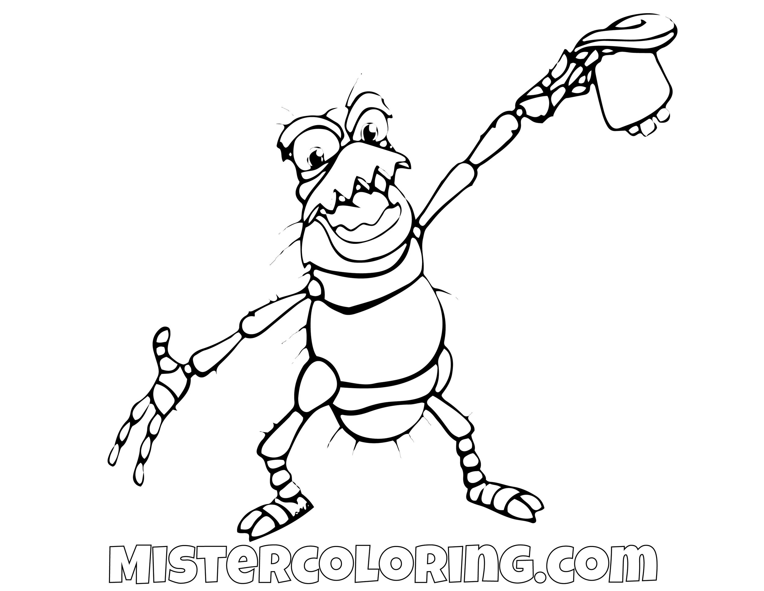 PT Flea A Bugs Life Coloring Page