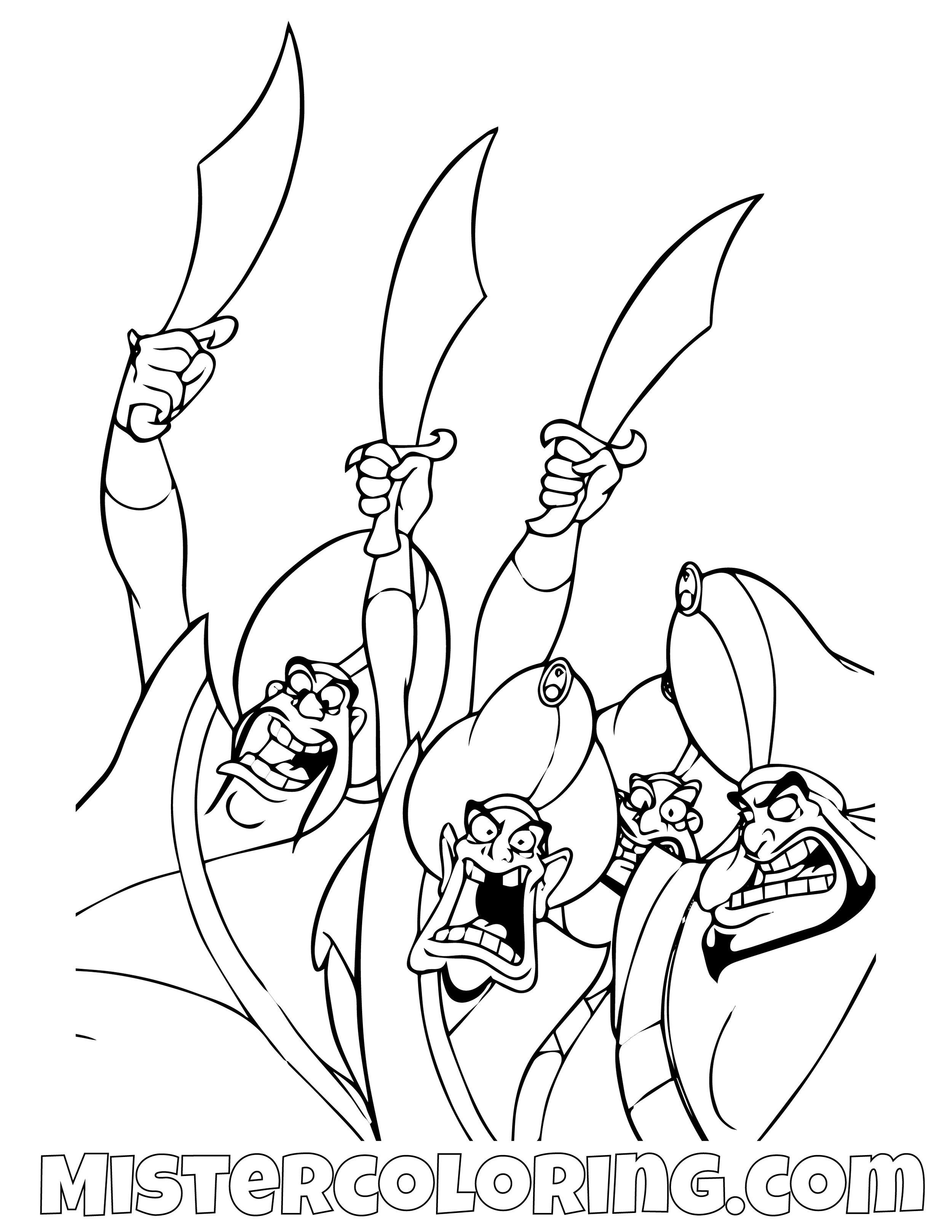 Razoul Aladdin Coloring Page