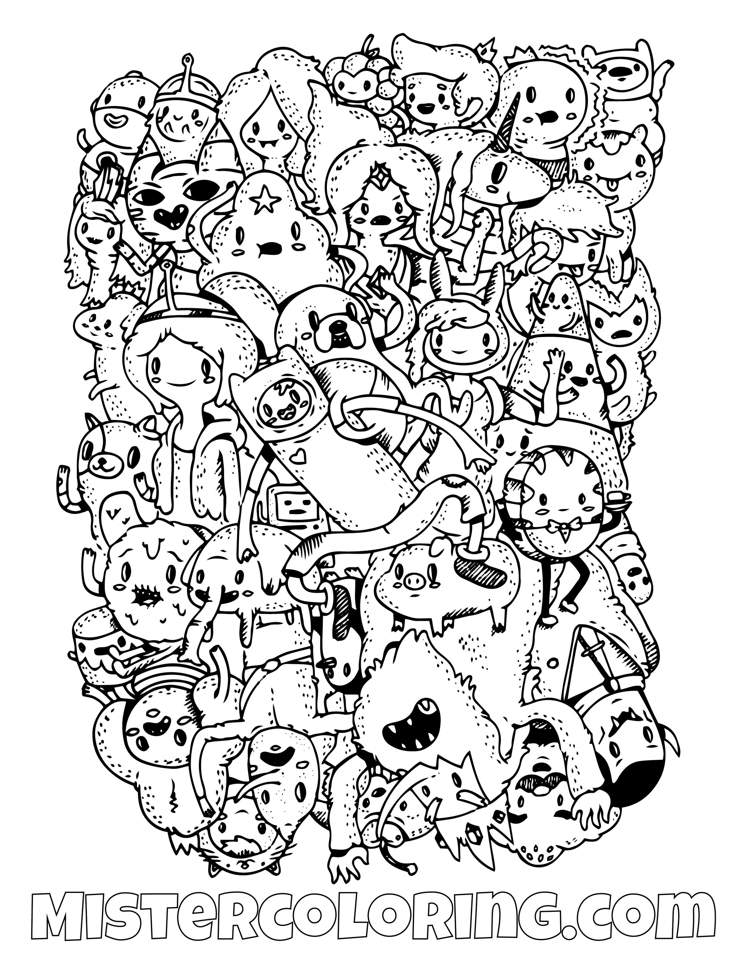 Printable Adventure Time S7456 Coloring Pages Printable | 1294x1000