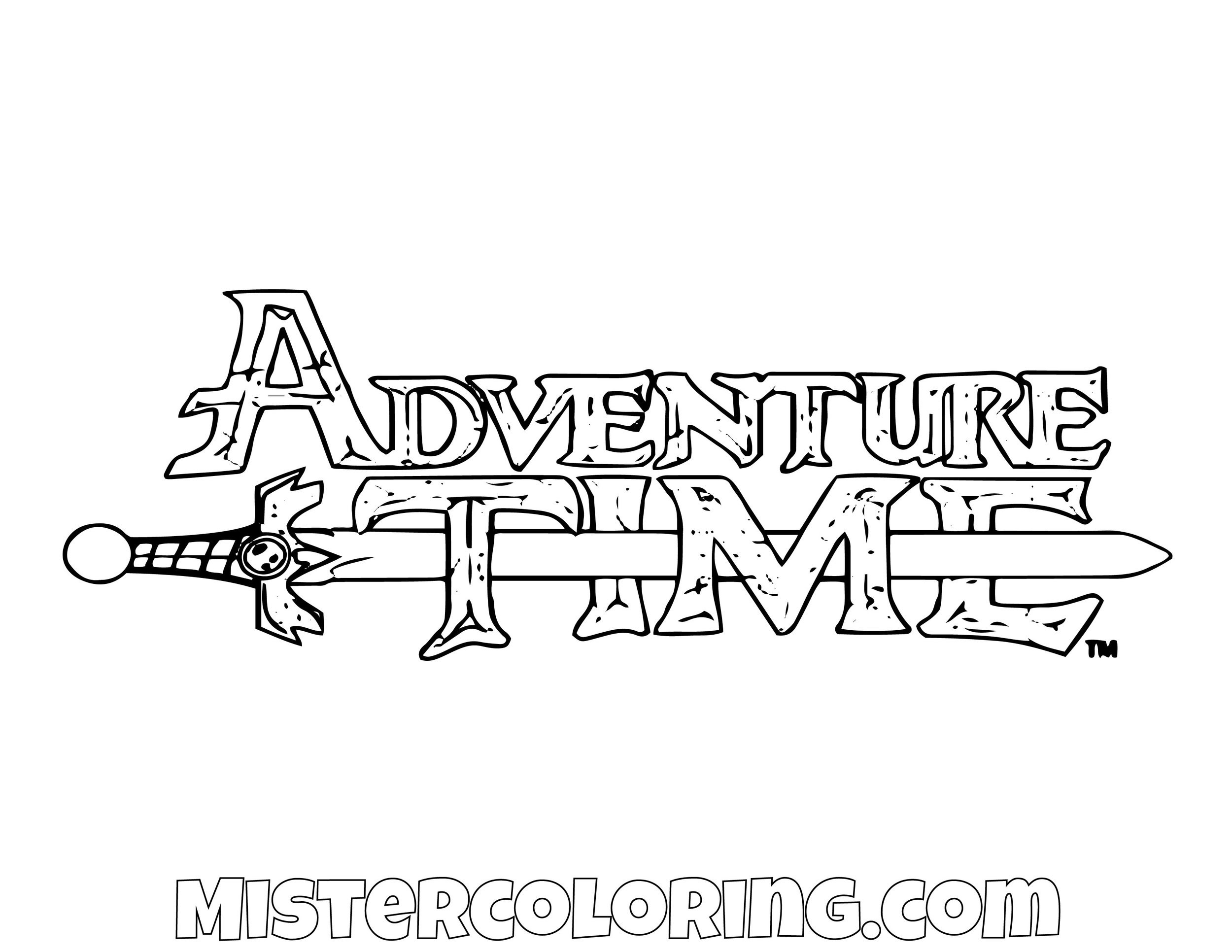 Adventure Time Logo Coloring Page