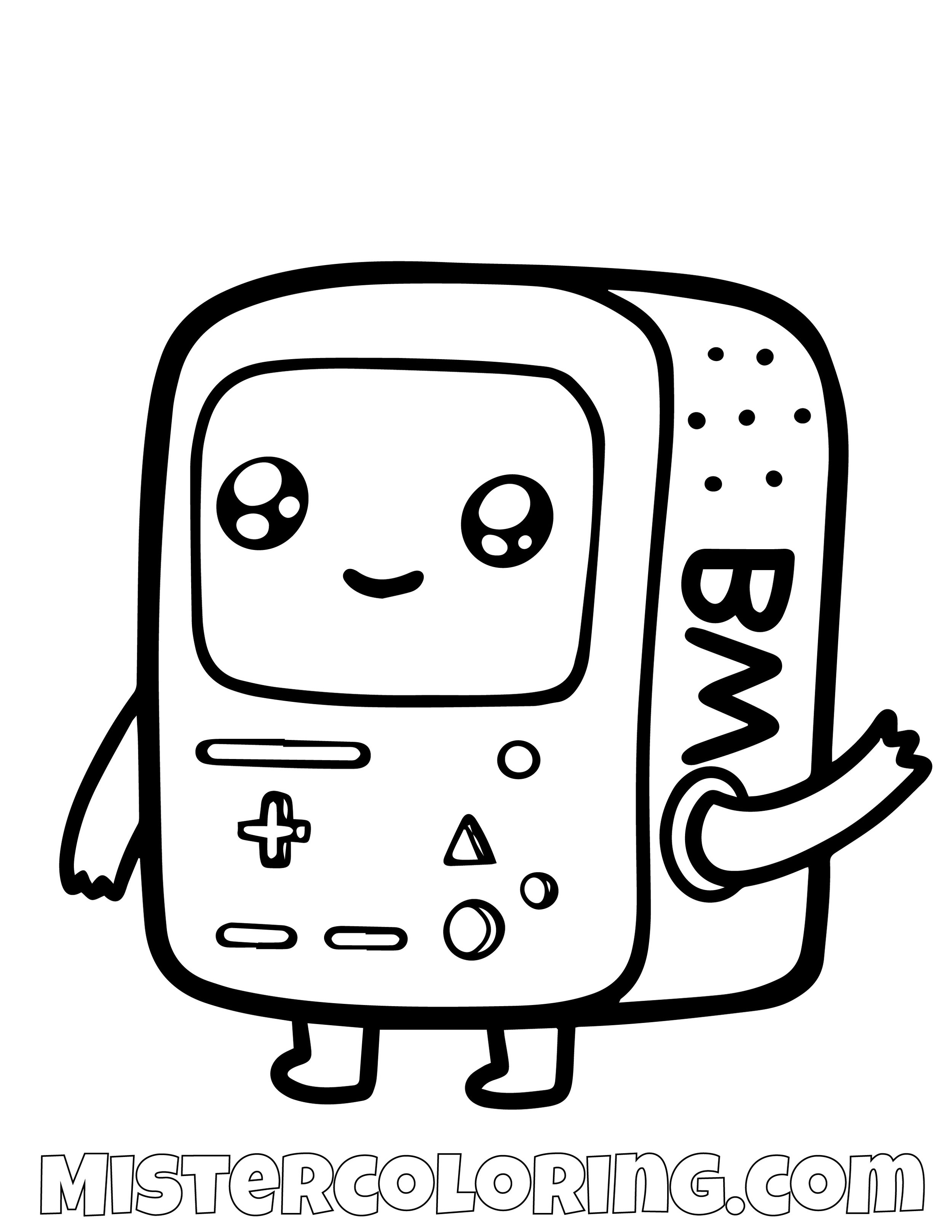 Baby Beemo Adventure Time Coloring Page