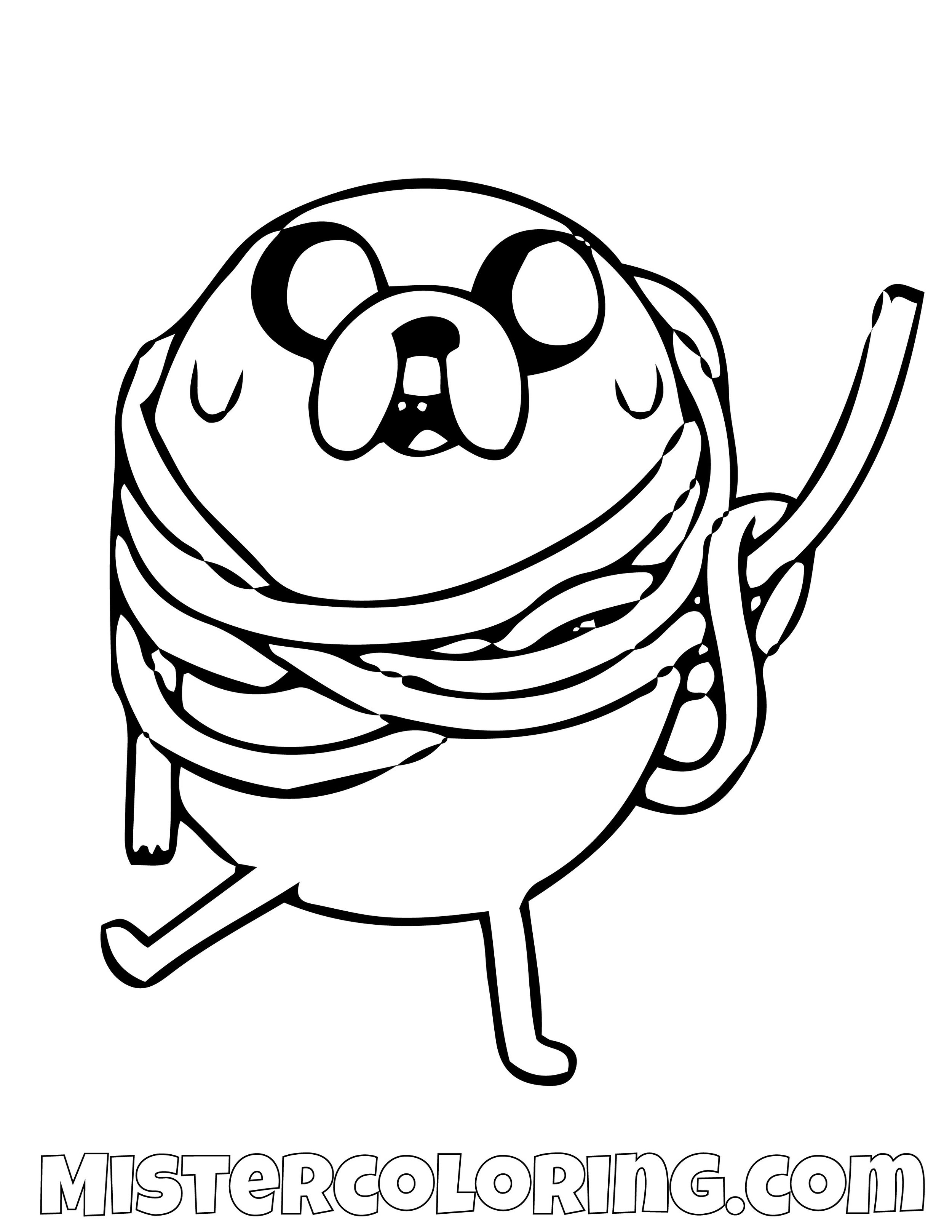 Jack The Dog Tied Up Adventure Time Coloring Page